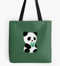 "Panda with ""recreational bamboo"" Tote Bag"