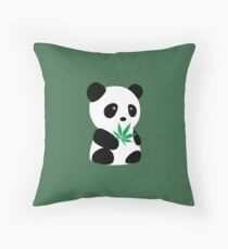 """Panda with """"recreational bamboo"""" Floor Pillow"""