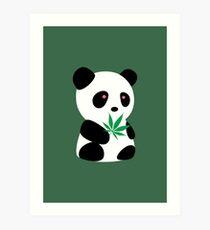 "Panda with ""recreational bamboo"" Art Print"