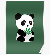 "Panda with ""recreational bamboo"" Poster"