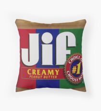 Jif Peanut Butter (Extra Creamy) Throw Pillow