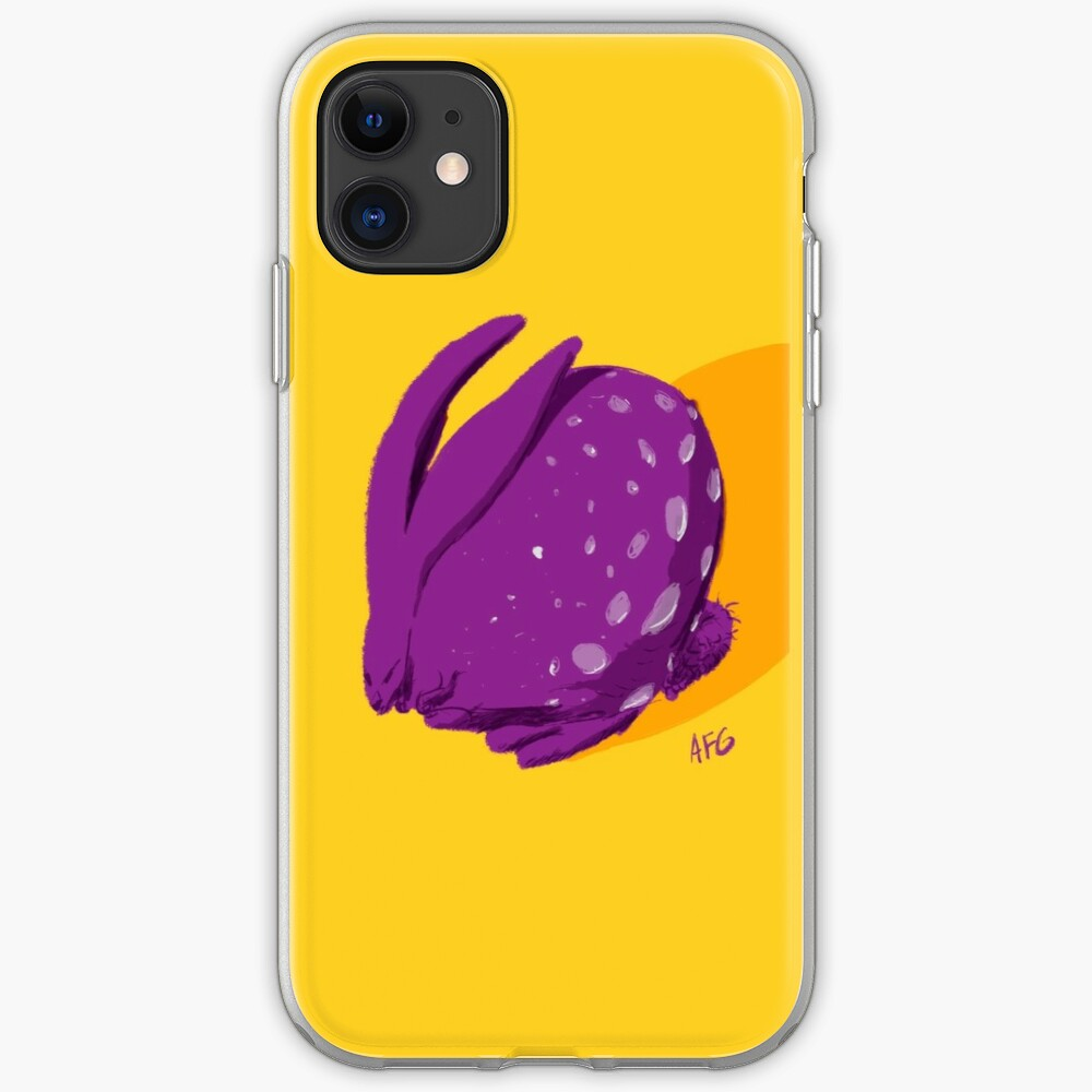 Purple Polka Dot Rabbit iPhone Case & Cover