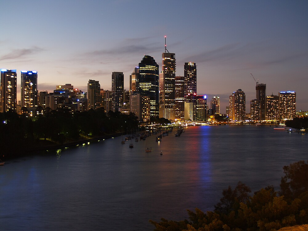 Brisbane city taken at night from Kangaroo Point  by flash62au