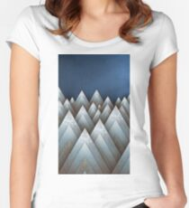 Metallic Mountains Women's Fitted Scoop T-Shirt