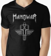 Manowar American heavy metal band Men's V-Neck T-Shirt