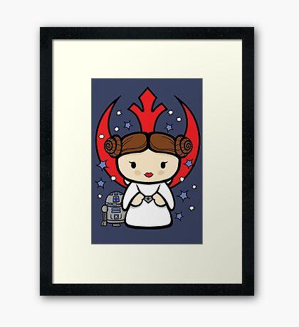 Rebel Princess Framed Print