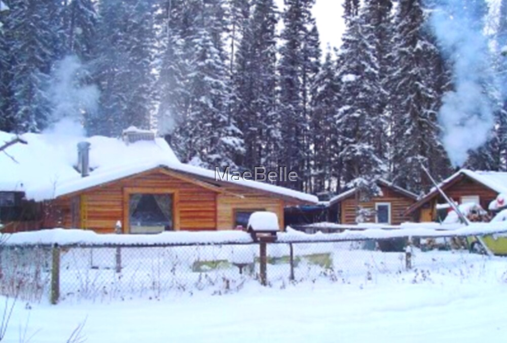 Our Cabin In The Woods...Winter by MaeBelle