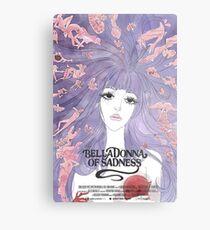 Belladonna trauriges Mädchen Metalldruck