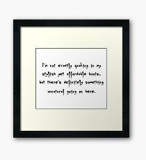 Quaking In My Stylish Yet Affordable Boots - Buffy the Vampire Slayer Quote, BtVS, 90s, Joss Whedon Framed Print