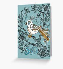 Song Bird Greeting Card