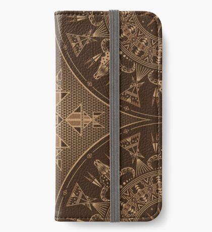 Buffalo Gathering Brown iPhone Wallet