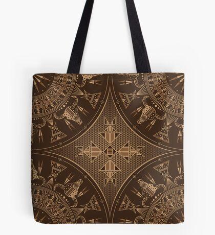 Buffalo Gathering Brown Tote Bag
