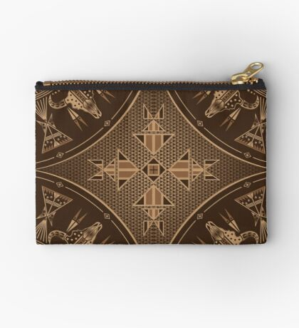 Buffalo Gathering Brown Studio Pouch