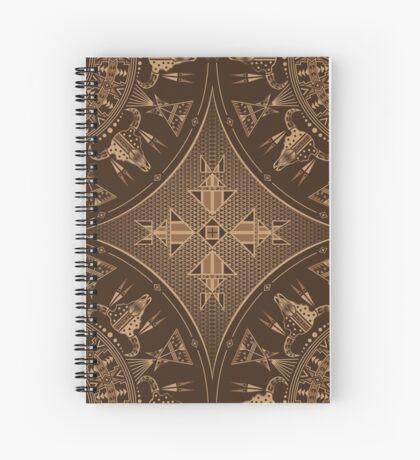 Buffalo Gathering Brown Spiral Notebook