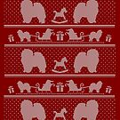 Ugly Christmas sweater dog edition - Chow chow red by Camilla Mikaela Häggblom