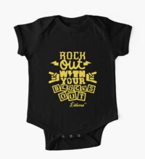 Rock Out with your Blocks Out! by lilterra.com One Piece - Short Sleeve