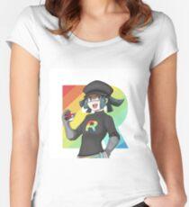 RAINBOW ROCKET GRUNT Women's Fitted Scoop T-Shirt
