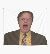 Dwight Schrute Screaming Wall Tapestry