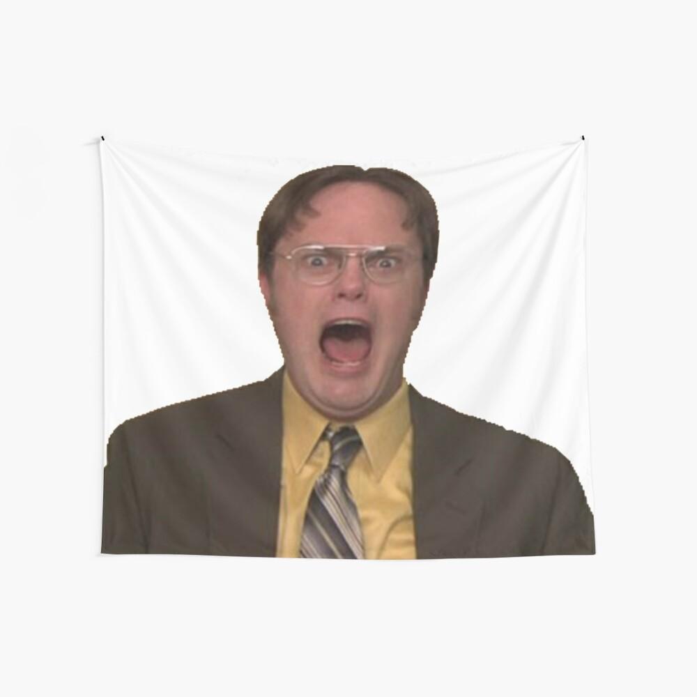 Dwight Schrute Schreien Wandbehang