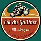 Col du Galibier 01 T-Shirt & Sticker - Route des Grandes Alpes  by ROADTROOPER