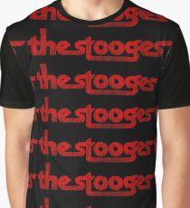 Die Stooges Distressed (rot) Grafik T-Shirt