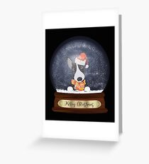 English Bull Terrier Christmas Gift Greeting Card
