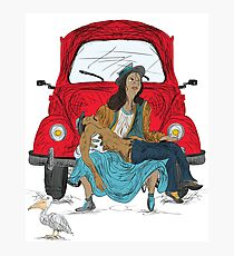 The Pedestrian Pieta in a Volkswagen Photographic Print