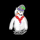 SNOWMAN WITH SCARF  by Shoshonan
