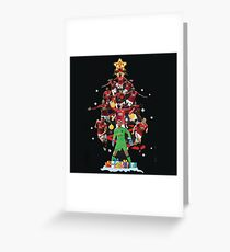 Manchester United Christmas Tree Greeting Card