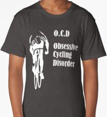 Cycling Funny Design - OCD Obsessive Cycling Disorder  Long T-Shirt