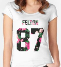 Tom Felton - Colorful Flowers Women's Fitted Scoop T-Shirt