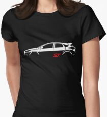 Ford Focus ST Vector Women's Fitted T-Shirt