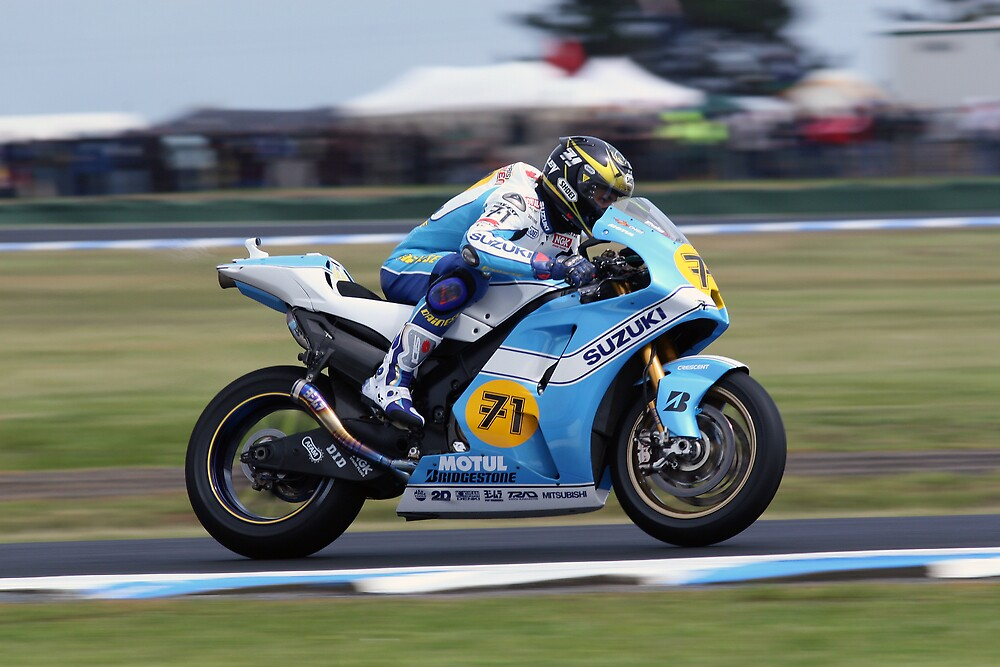 Chris Vermeulen, Phillip Island Motogp 2007 by Anthony Edwards