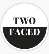 two faced Sticker
