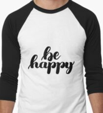 Be happy lettering print T-Shirt