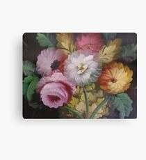 JACOBEAN FLORAL PAINTING Canvas Print