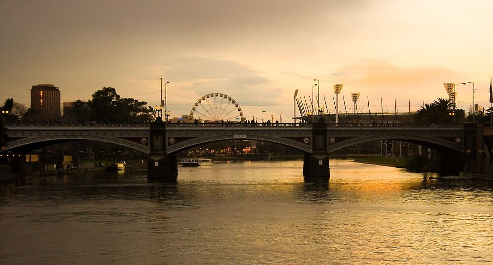 Sunset over the Yarra River by Martin Canning