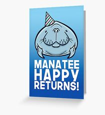 Manatee Happy Returns Greeting Card