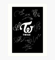 TWICE - Signed With Logo Art Print