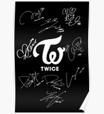 TWICE - Signed With Logo Poster