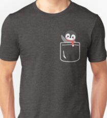Cute Penguin In Your Front Pocket T-Shirt Funny Christmas T-Shirt