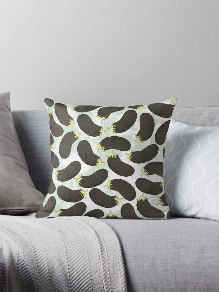 Aubergines Throw Pillows By Yaansoon Redbubble Simple Aubergine Decorative Pillows