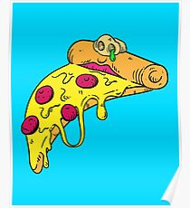 Melting Mutant Cheese Pizza Poster
