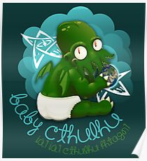 A cute baby Cthulhu Poster