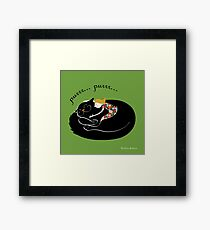 lovely hug (poster, quadro, cuscino) Framed Print