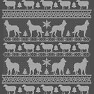 Ugly Christmas sweater dog edition - Belgian shepherd by Camilla Mikaela Häggblom