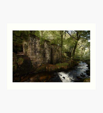 Ruined Gunpowder Mill - Cornwall Art Print