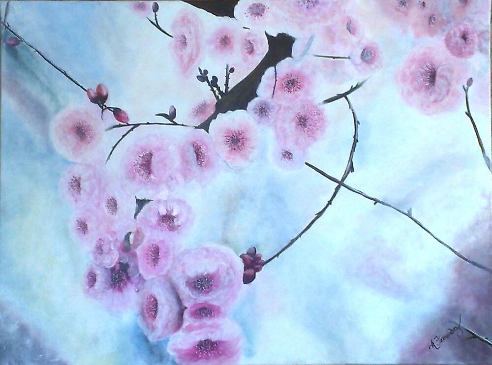 Japanese Cherry Blossoms by Karen McGrath