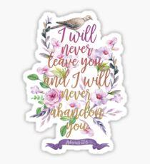 HEBREWS 13:5 Sticker