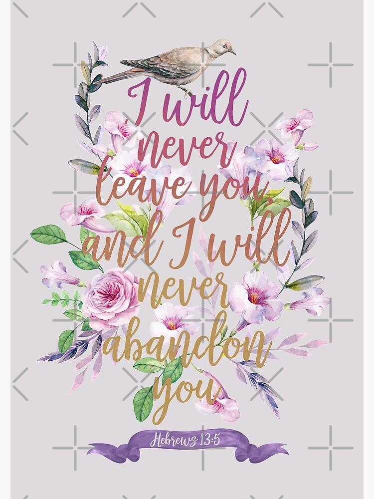 HEBREWS 13:5 by JenielsonDesign